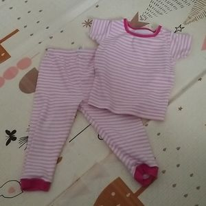 Pink and white striped PJs